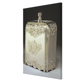 Silver tea canister by Paul de Lamerie Canvas Print