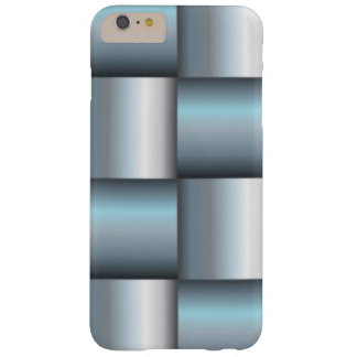 Silver & Teal Metallic Square Collage Barely There iPhone 6 Plus Case