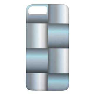 Silver & Teal Metallic Square Collage iPhone 8 Plus/7 Plus Case