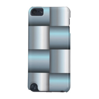 Silver & Teal Metallic Square Collage iPod Touch (5th Generation) Cases