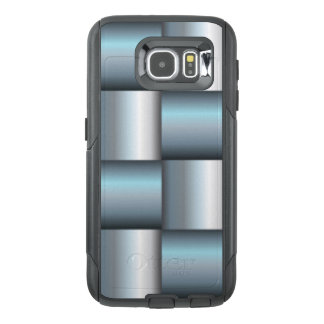 Silver & Teal Metallic Square Collage OtterBox Samsung Galaxy S6 Case