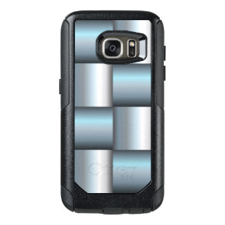 Silver & Teal Metallic Square Collage OtterBox Samsung Galaxy S7 Case