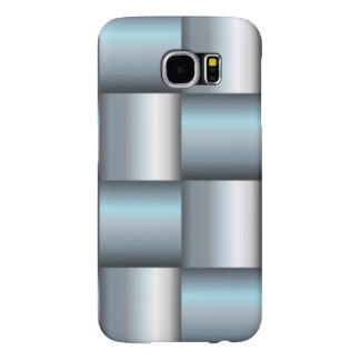Silver & Teal Metallic Square Collage Samsung Galaxy S6 Cases