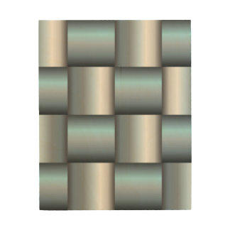 Silver & Teal Metallic Square Collage Wood Wall Art