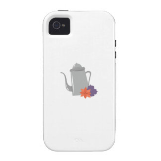 Silver Teapot iPhone 4/4S Cases