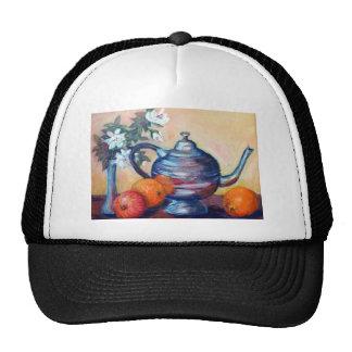 silver teapot mesh hat