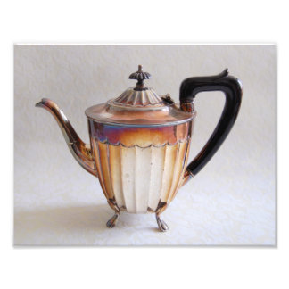 Silver Teapot Photography Print Photograph