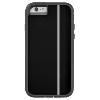 Silver Thin Vertical Line on Black Tough Xtreme iPhone 6 Case