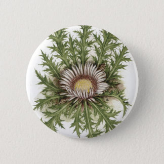 Silver Thistle Collection 6 Cm Round Badge
