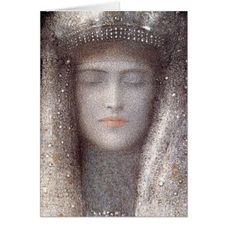Silver Tiara by French Symbolist Odilon Redon Card