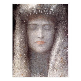 Silver Tiara by French Symbolist Odilon Redon Postcard