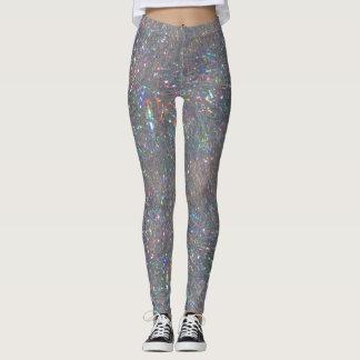 Silver Tinsel Leggings