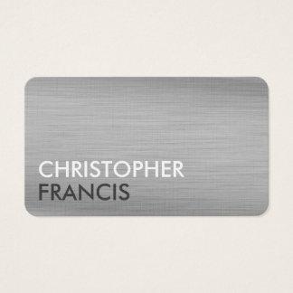 Silver titanium metal customizable business cards