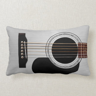 Silver Top Acoustic Guitar Lumbar Pillow