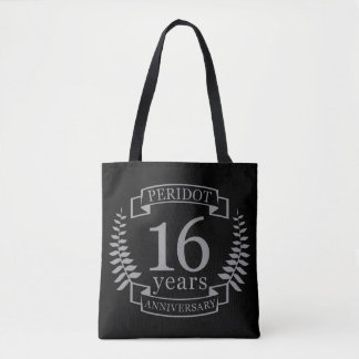 Silver Traditional wedding anniversary 16 years Tote Bag