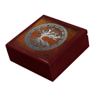Silver Tree of Life Large Square Gift Box