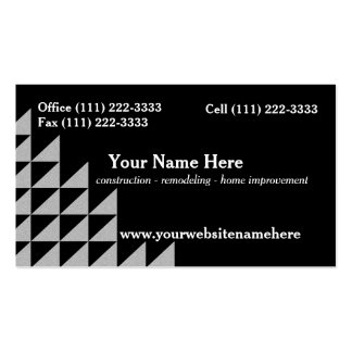 Silver Triangle Pattern Construction Pack Of Standard Business Cards