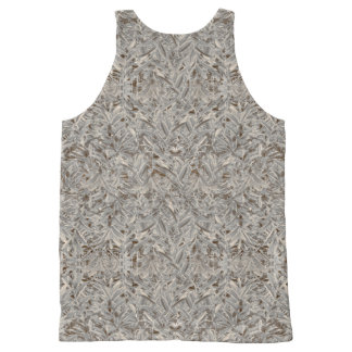 Silver Tropical Print All-Over Print Tank Top