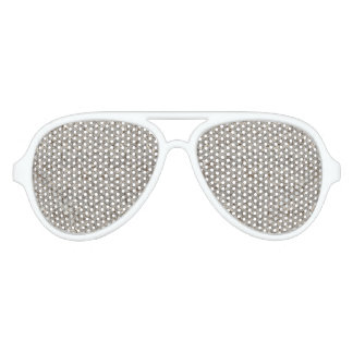 Silver Tropical Print Aviator Sunglasses