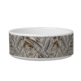 Silver Tropical Print Bowl