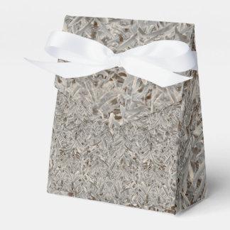 Silver Tropical Print Favour Box