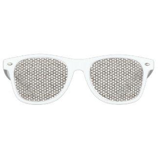 Silver Tropical Print Retro Sunglasses
