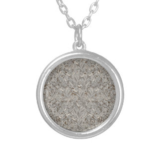 Silver Tropical Print Silver Plated Necklace