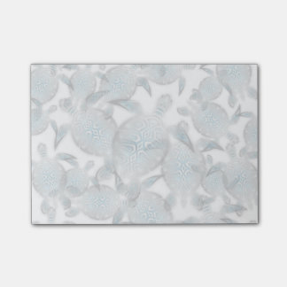 Silver Turtles  Pattern Post-it® Notes