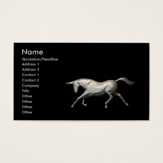 Silver Unicorn - Business Business Card
