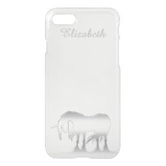 Silver Unicorn iPhone 7 Case