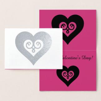 Silver Valentine Heart Foil Card