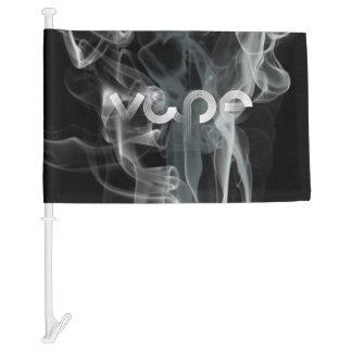 Silver Vape Smoke Car Flag