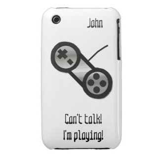 Silver Video Game Controller iPhone 3 Case