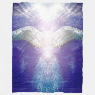 Silver violet angel fleece blanket