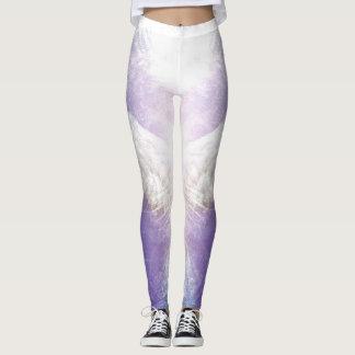 Silver violet angel leggings