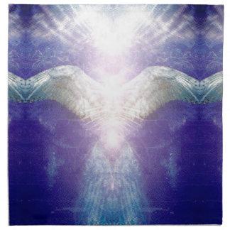 Silver violet angel napkin