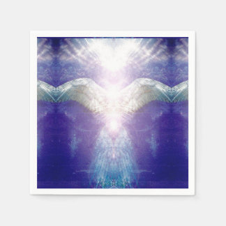 silver violet angel paper serviettes