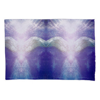 Silver violet angel pillowcase