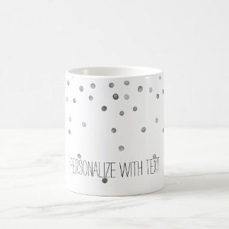 Silver Watercolor Confetti Dots Coffee Mug