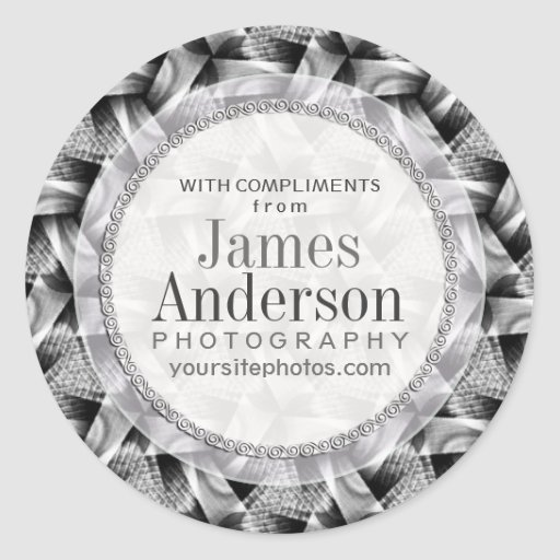 Silver Weave Pattern Business Promotional Sticker
