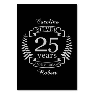 Silver wedding anniversary 25 years card