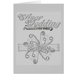 Silver Wedding Anniversary 25 Years Greeting Card