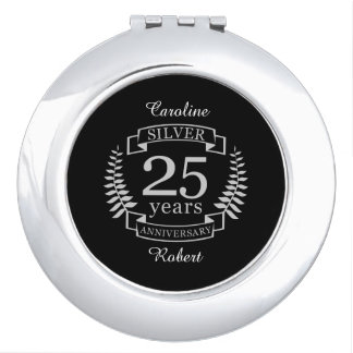 Silver wedding anniversary 25 years mirrors for makeup