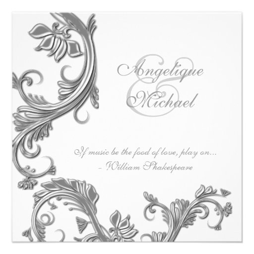 Silver wedding anniversary engagement personalized invitation