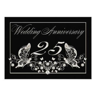 Silver Wedding Anniversary Invitation Pad 25 Years