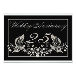 "Silver Wedding Anniversary Invitation Pad 25 Years 5"" X 7"" Invitation Card"
