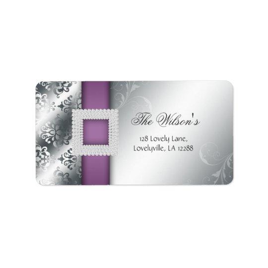 Silver Wedding Anniversary Jewel Purple Label