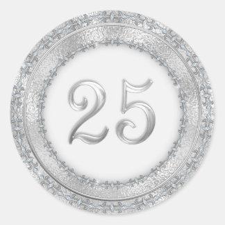 Silver Wedding Anniversary Sticker
