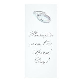 Silver Wedding Bands/Invites 10 Cm X 24 Cm Invitation Card