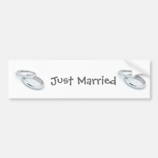 Silver Wedding Bands Save the Date Bumper Sticker